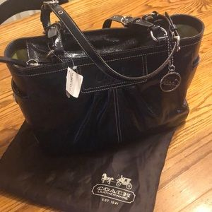 NWT COACH Blue patent leather